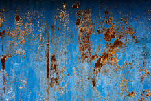 Blue Textured Surface With Cor...
