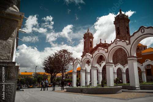 Obraz Center of the city of Potosi, Bolivia - fototapety do salonu