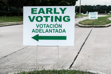 An Early Voting Site Sign - Ea...