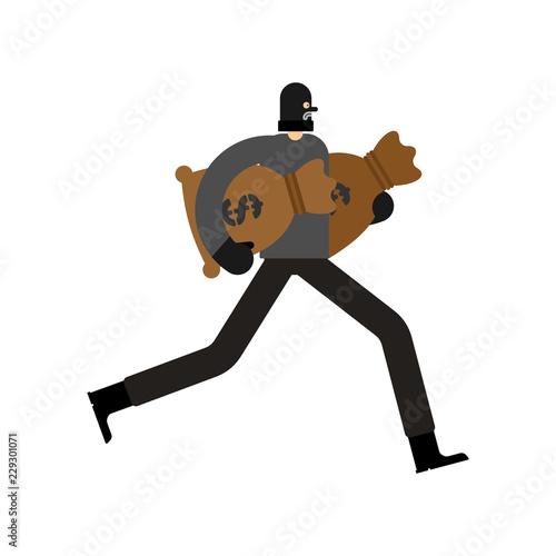 Obraz na płótnie Robber and bag of money