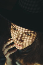 Creative Woman Closeup Portrait