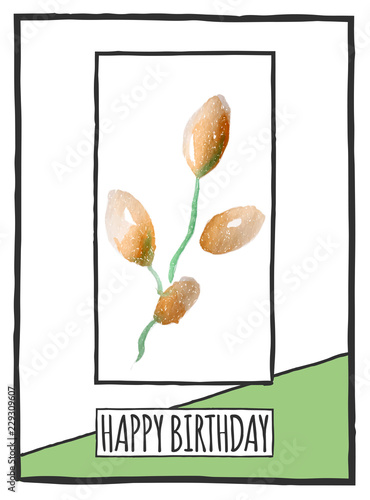 Spoed Foto op Canvas Retro sign happy birthday card