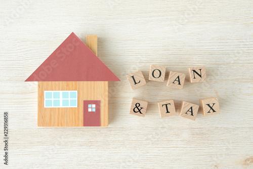 住宅ローンと税金 Canvas Print