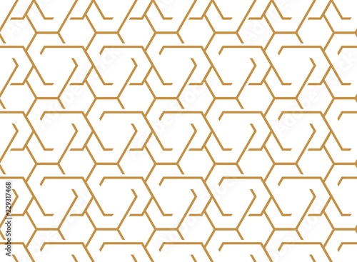 The geometric pattern with lines  Seamless vector background  White