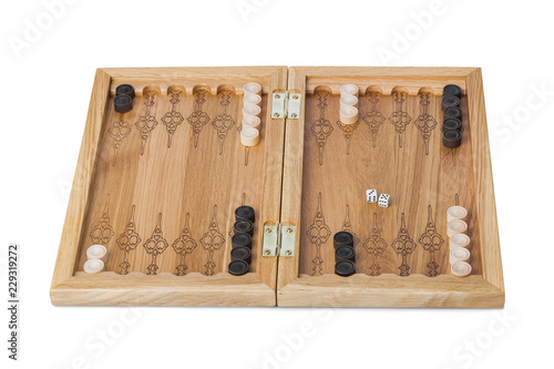 Backgammon playing field and dices Fototapete