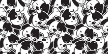 Dog Seamless Pattern French Bulldog Vector Puppy Head Dachshund  Bone Scarf Isolated Cartoon Illustration Tile Background Repeat Wallpaper