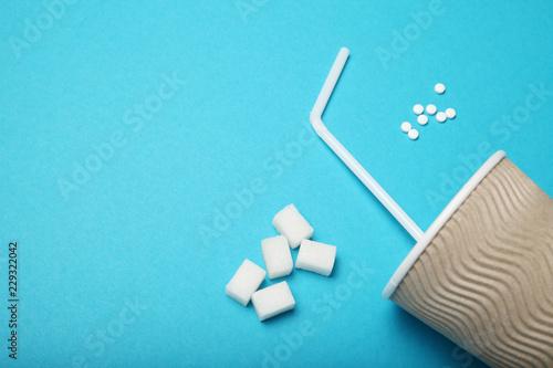 Photo Sweetener pills, dispenser