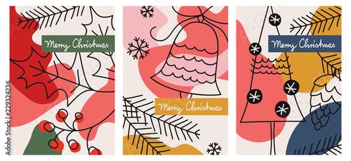 Fotografía  set of three christmas greeting cards