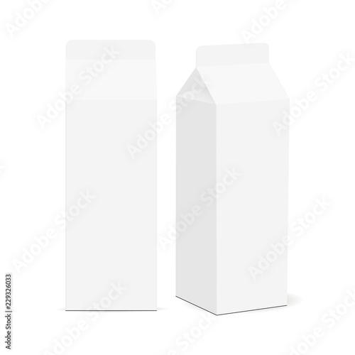 Stampa su Tela Milk carton box mockup isolated on white background