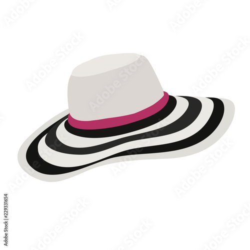Cuadros en Lienzo fashionable women's hat
