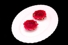 Heart Shaped Cake On A Plate, Digital Photo Picture As A Background