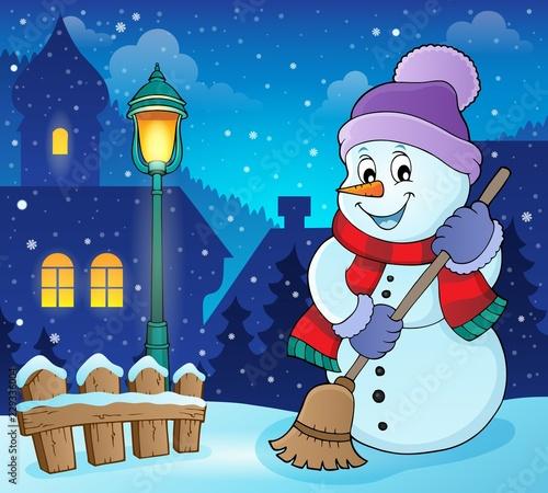 Winter snowman subject image 6