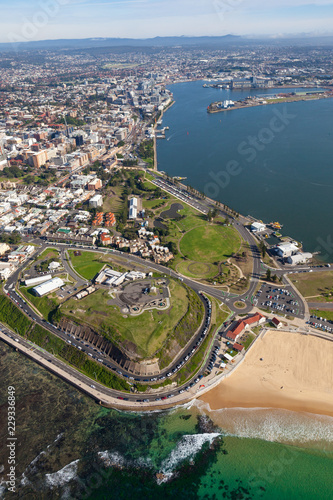 Poster Oceanië Fort Scratchley and Newcastle Harbour Hunter River Newcastle New South Wales Australia