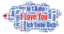 I Love You In Different Languages Word Cloud