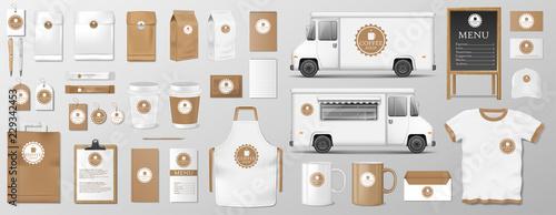 Foto Mockup set for coffee shop, cafe or restaurant