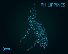Map Of Philippines. Vector Illustration. World Map