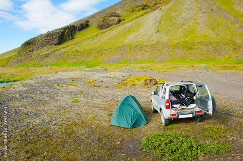 Camping in the Iceland
