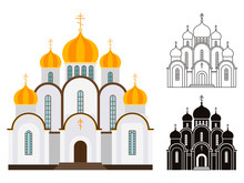 Orthodox Church Buildings Vect...