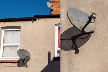Domestic Satellite Dish On Tra...