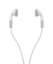White Modern Earphones
