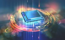 Futuristic CPU. Quantum Proces...