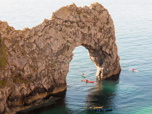 Durdle Door Nature Coastline Coast Sea Special Landscape Dorset South Tourists Tourism Rowing
