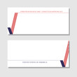 Patriotic background check mark card with American flag Design element for templates layouts cards banners brochures Patriotic theme with flag of USA for business on independence day Vector Header