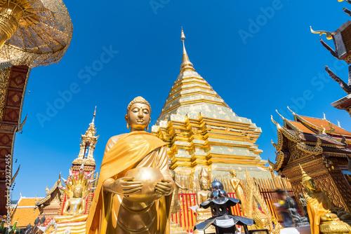 Tuinposter Bedehuis Wat Phra That Doi Suthep temple , Chiang Mai,Northern Thailand