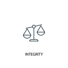 Integrity Concept Line Icon. Simple Element Illustration. Integrity Concept Outline Symbol Design. Can Be Used For Web And Mobile UI/UX