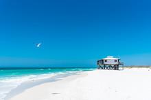 Lone Beach House On A Beautiful White Sand Beach, Shell Island, Panama City Beach, Florida