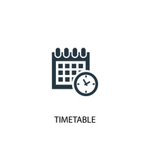 Timetable Icon. Simple Element...