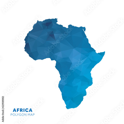Map Of Adrica Map of Adrica. Blue geometric polygon map.   Buy this stock vector
