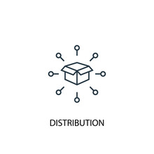 Distribution Concept Line Icon...