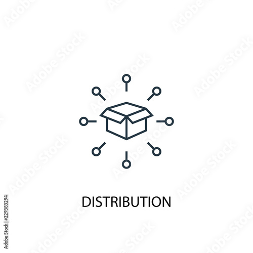 distribution concept line icon. Simple element illustration. distribution  concept outline symbol design. Can be used for web and mobile UI/UX Wall mural