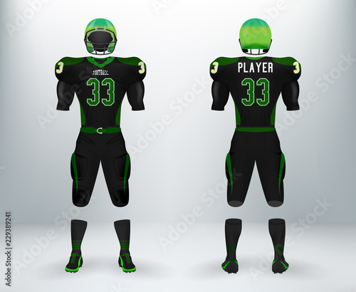 best website c9657 c2796 3D realistic mockup of American rugby football jersey ...