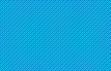 Aqua Blue Woven Basketweave Abstract Background. Repeated Braiding Of Horizontal And Vertical Stripes Creates A Basket Weave Pattern In Aqua And Blue, Woven With Strands Of Various Widths.