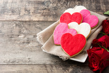 Heart-shaped Cookies For Valen...