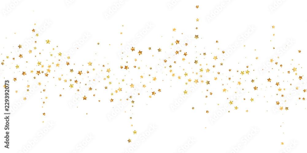 Fototapety, obrazy: Gold stars random luxury sparkling confetti. Scatt