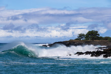 Curling Wave Cresting And Trai...