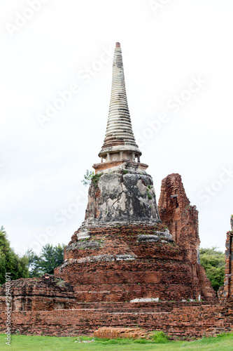 ancient temple in ayutthaya thailand