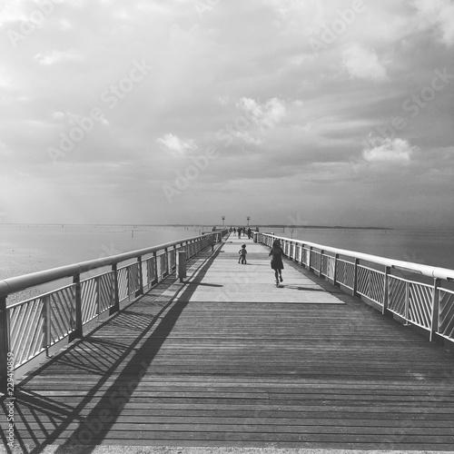 Foto op Plexiglas Panoramafoto s Pont du bassin d Arcachon