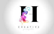 H Vibrant Creative Leter Logo ...