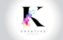 K Vibrant Creative Leter Logo ...