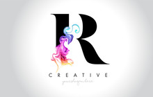 R Vibrant Creative Leter Logo ...