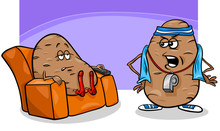 Couch Potato Saying Cartoon Il...
