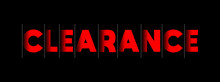 Clearance - Red Text Written On Black Background