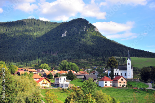 Summer view of village in Tatras mountains