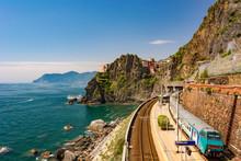 Coastal Train Station At Pictu...