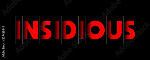 Insidious - red text written on black background Canvas Print