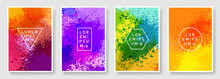 Set Of Colorful Abstract Background Modern Style